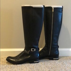 Michael Kors leather riding boots size 9